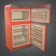 Retro koelkast 01 (Midcentury Mod) - PBR Game Ready 3D 3d model