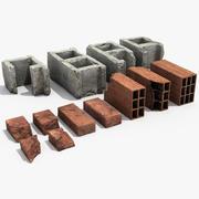 Bricks debris 3d model