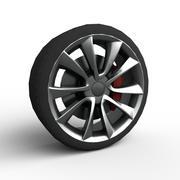 Car Wheel Game Ready 3d model