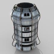 Koncepcja silnika kosmicznego Low Poly 3d model