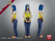 Estudiante hembra modelo 3d