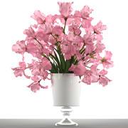 Букет розовых цветов 3d model