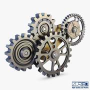 Gear Mechanism Low Poly v 6 3d model