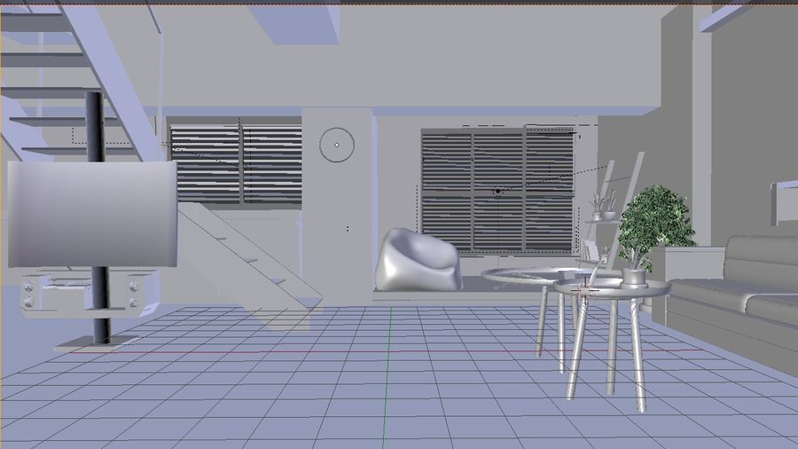 Modernes Interieur royalty-free 3d model - Preview no. 4