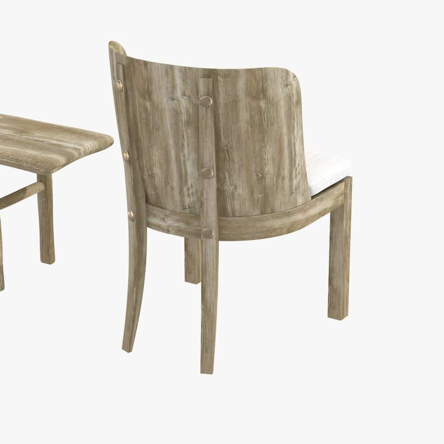 Meubles en bois sur mesure royalty-free 3d model - Preview no. 8