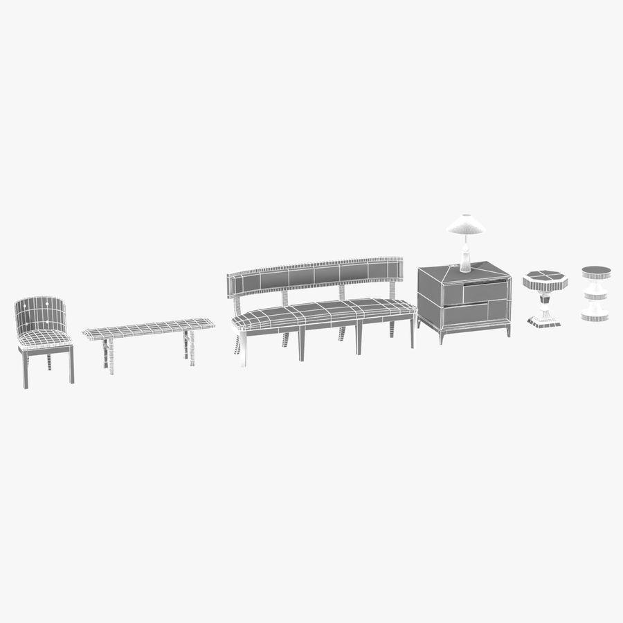 Meubles en bois sur mesure royalty-free 3d model - Preview no. 28
