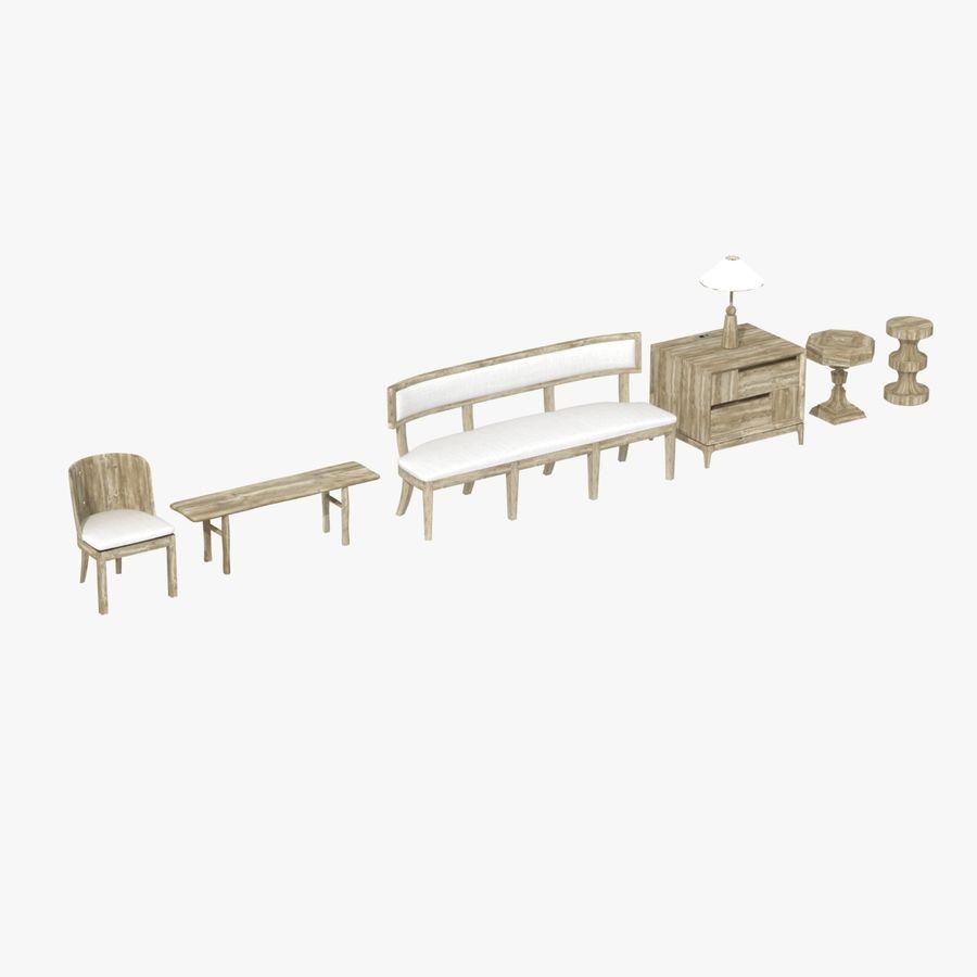 Meubles en bois sur mesure royalty-free 3d model - Preview no. 17