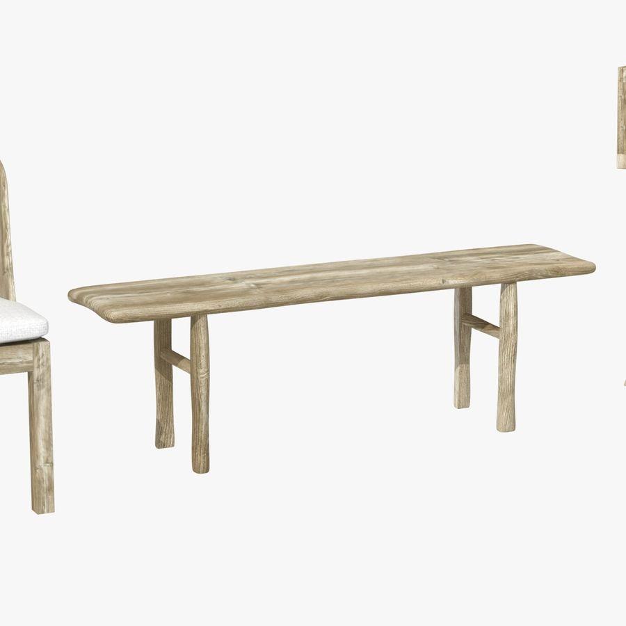 Meubles en bois sur mesure royalty-free 3d model - Preview no. 11