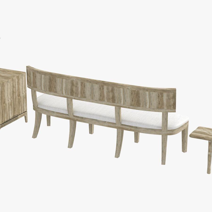 Meubles en bois sur mesure royalty-free 3d model - Preview no. 7