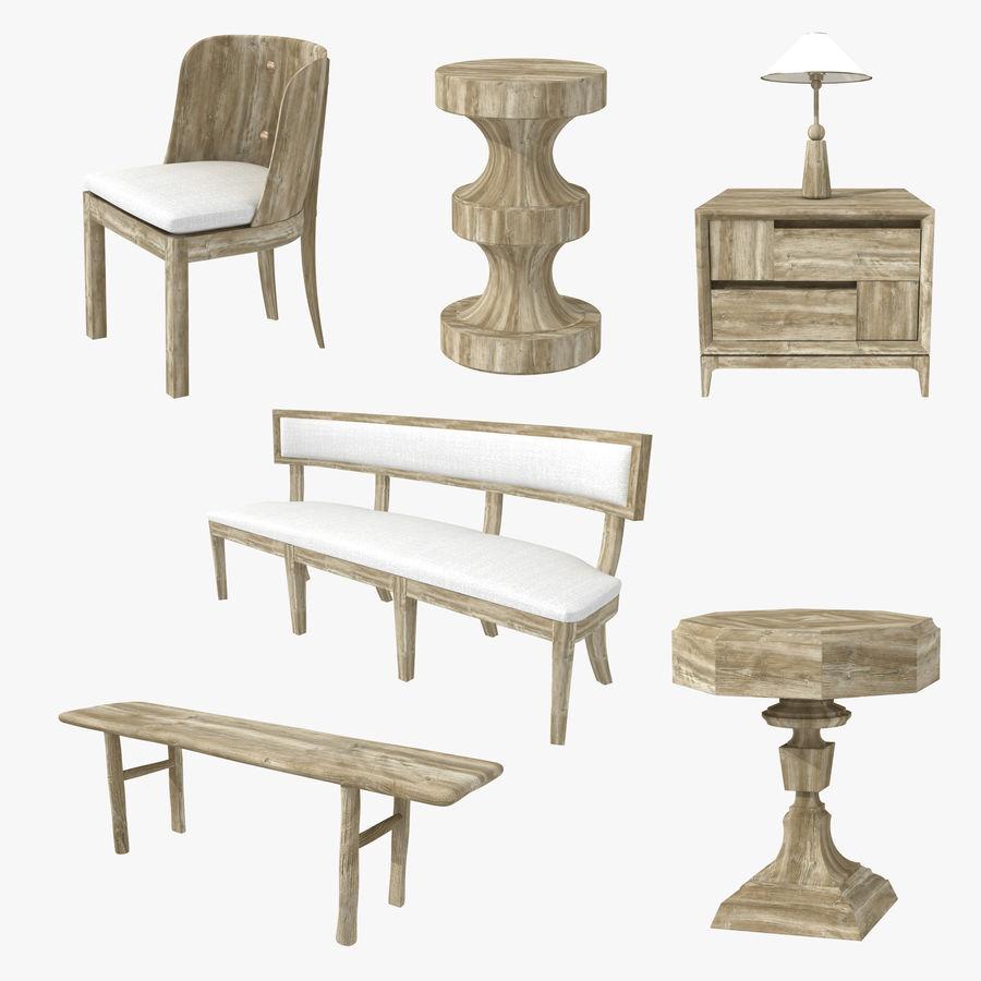 Meubles en bois sur mesure royalty-free 3d model - Preview no. 1