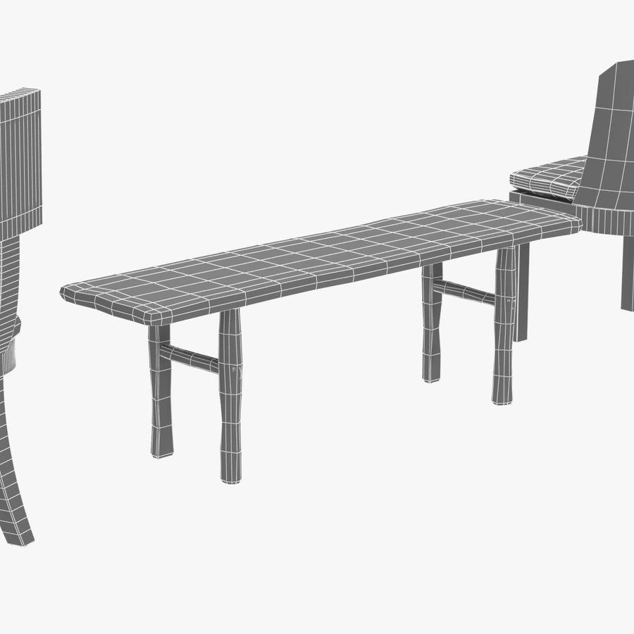 Meubles en bois sur mesure royalty-free 3d model - Preview no. 20