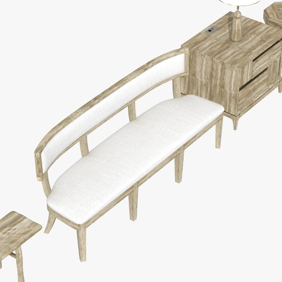 Meubles en bois sur mesure royalty-free 3d model - Preview no. 12