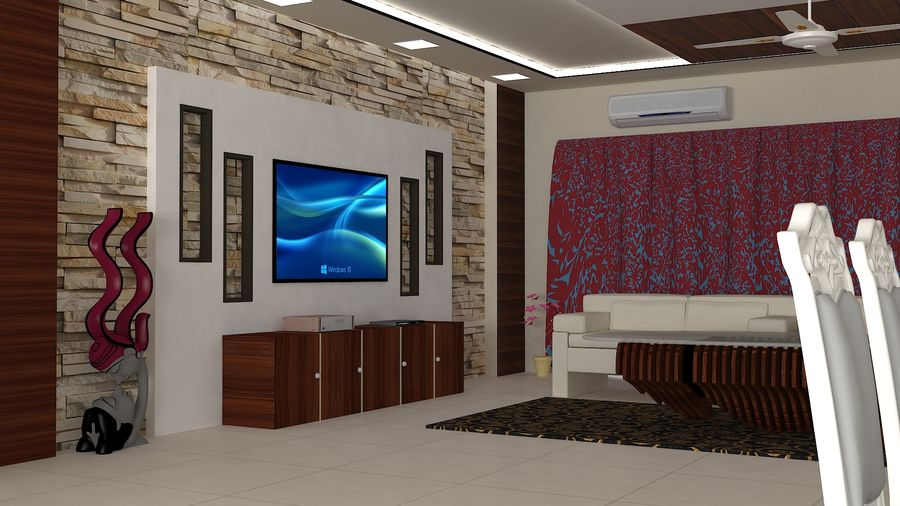 Interior Design royalty-free 3d model - Preview no. 4