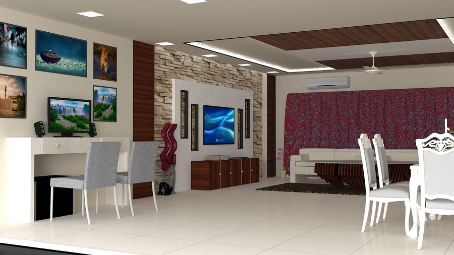 Interior Design royalty-free 3d model - Preview no. 2