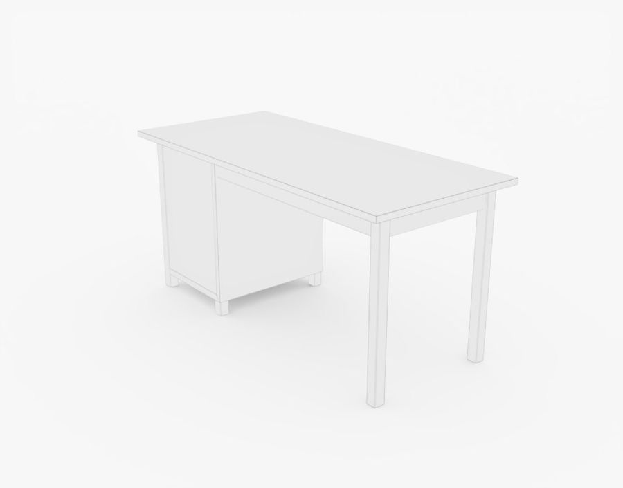 Wooden Desk royalty-free 3d model - Preview no. 16