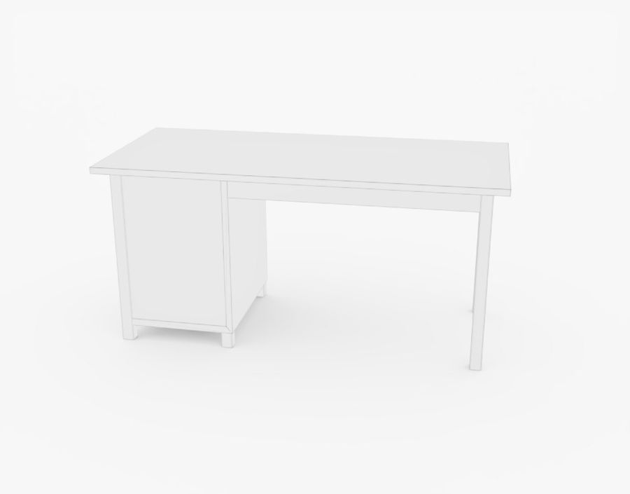 Wooden Desk royalty-free 3d model - Preview no. 15