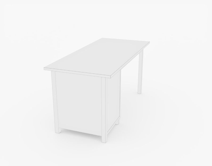 Wooden Desk royalty-free 3d model - Preview no. 13