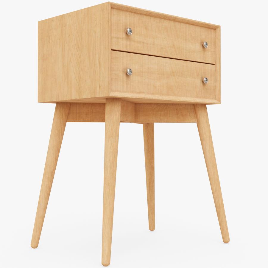 Mesita de noche de madera royalty-free modelo 3d - Preview no. 1