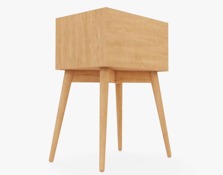 Mesita de noche de madera royalty-free modelo 3d - Preview no. 10