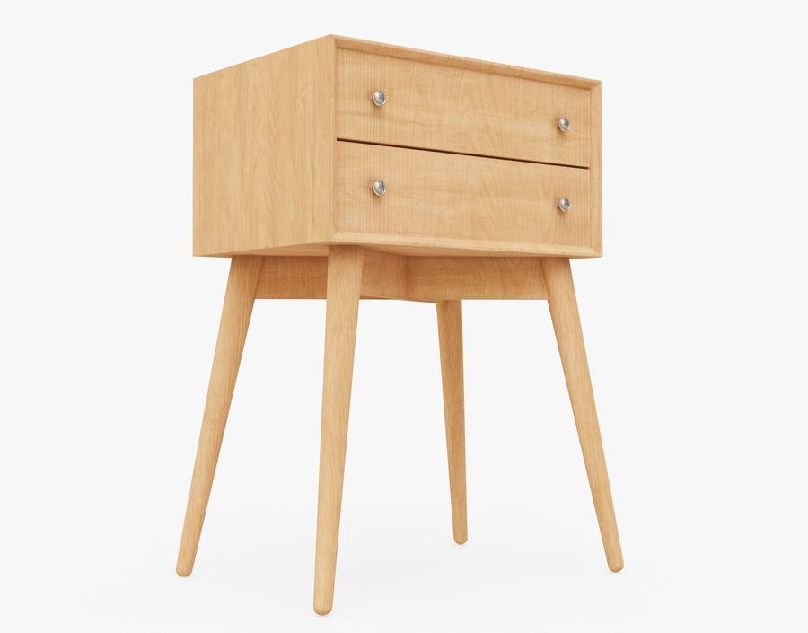 Mesita de noche de madera royalty-free modelo 3d - Preview no. 20