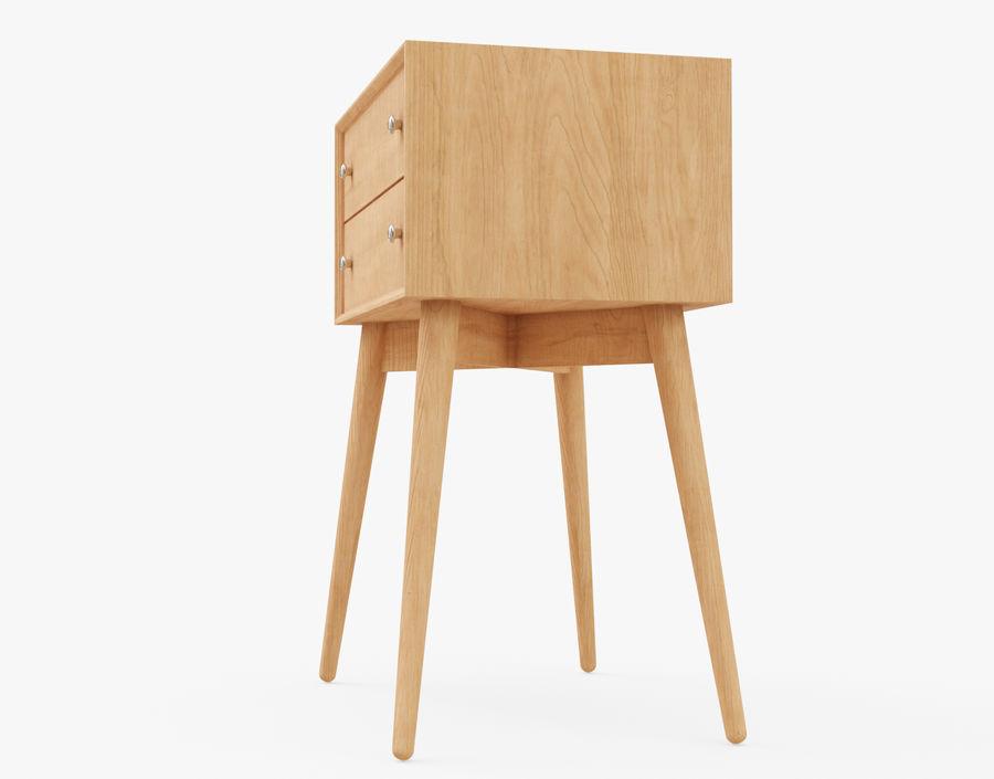 Mesita de noche de madera royalty-free modelo 3d - Preview no. 7