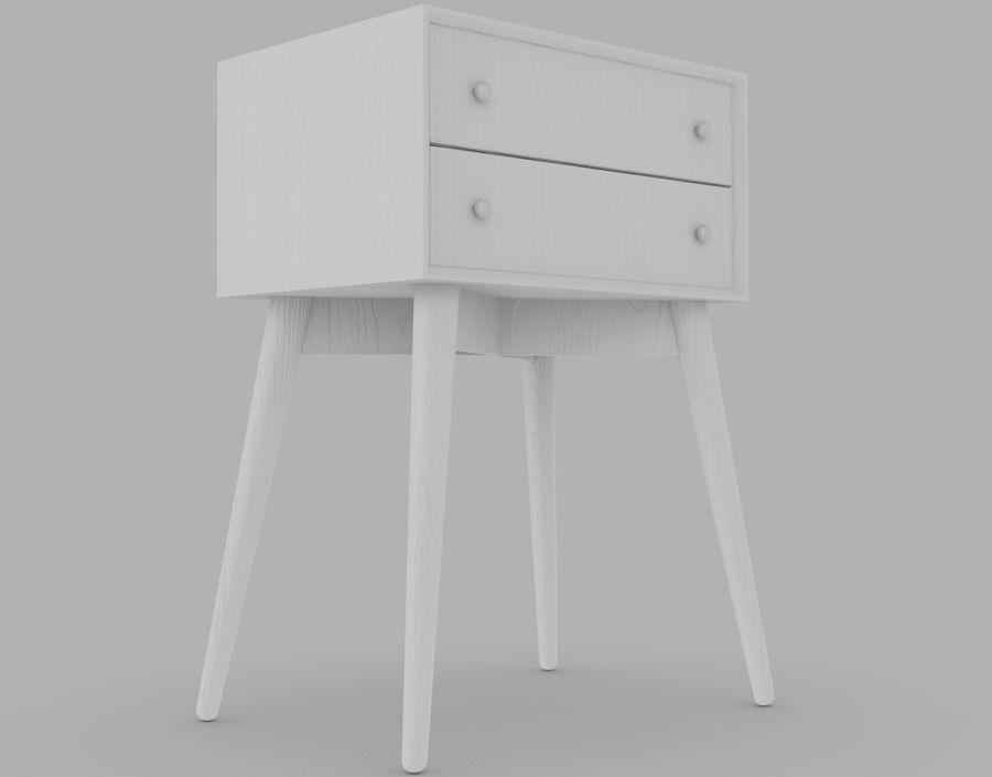 Mesita de noche de madera royalty-free modelo 3d - Preview no. 25