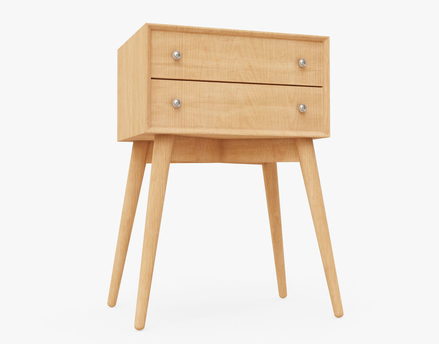 Mesita de noche de madera royalty-free modelo 3d - Preview no. 21