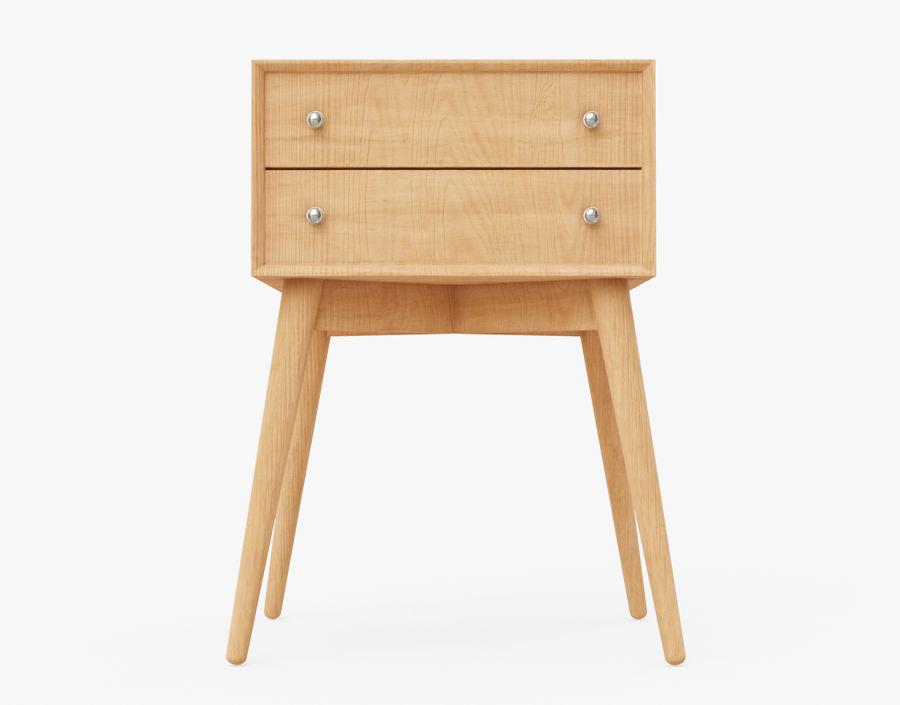 Mesita de noche de madera royalty-free modelo 3d - Preview no. 22