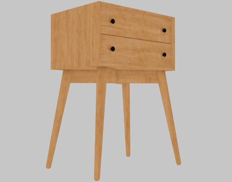Mesita de noche de madera royalty-free modelo 3d - Preview no. 23