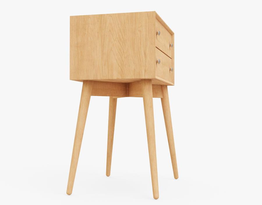 Mesita de noche de madera royalty-free modelo 3d - Preview no. 18