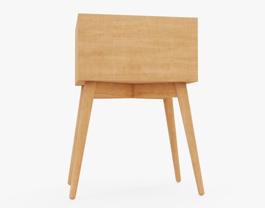 Mesita de noche de madera royalty-free modelo 3d - Preview no. 12