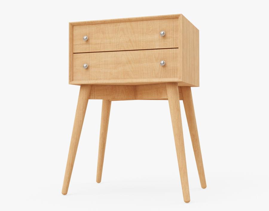 Mesita de noche de madera royalty-free modelo 3d - Preview no. 4