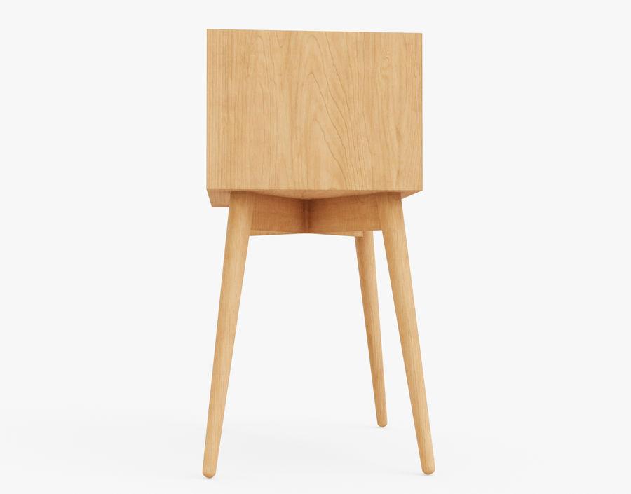 Mesita de noche de madera royalty-free modelo 3d - Preview no. 17