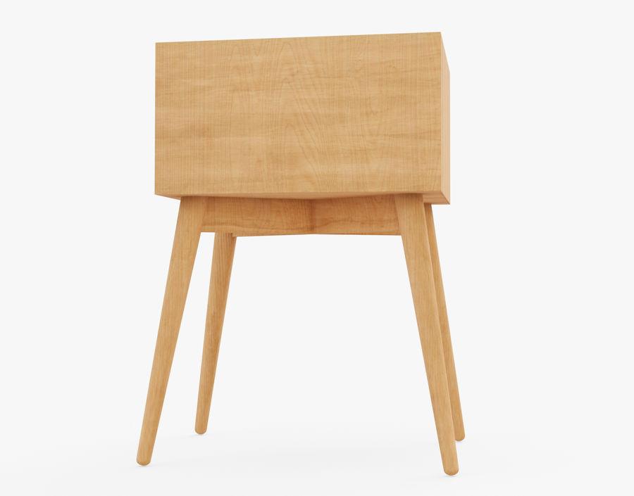 Mesita de noche de madera royalty-free modelo 3d - Preview no. 13