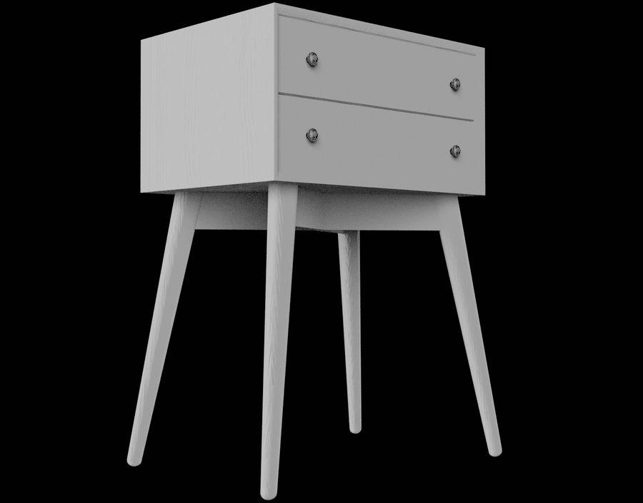 Mesita de noche de madera royalty-free modelo 3d - Preview no. 24
