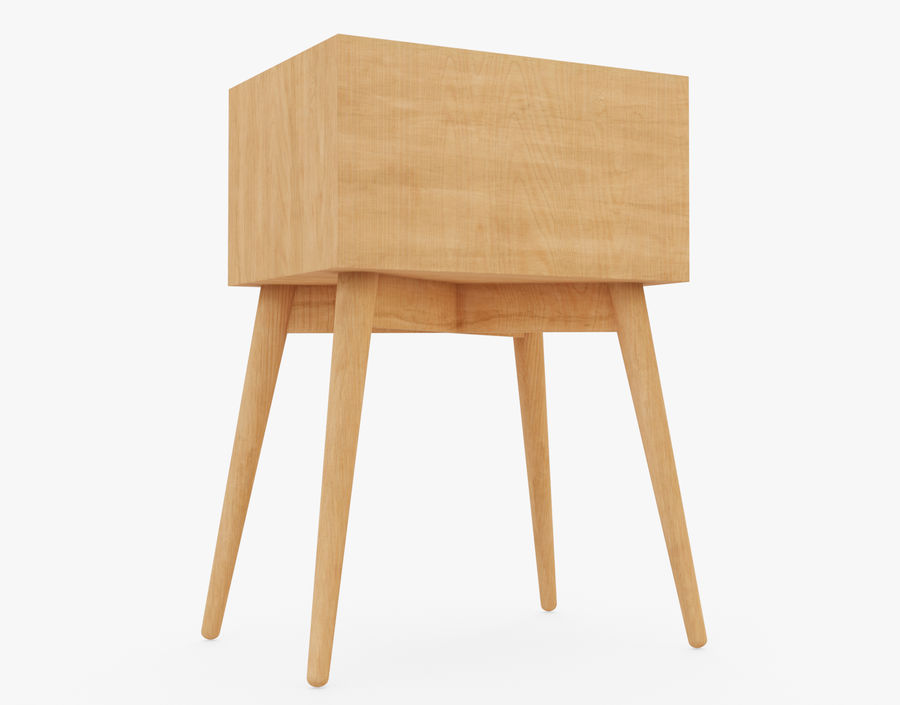 Mesita de noche de madera royalty-free modelo 3d - Preview no. 11