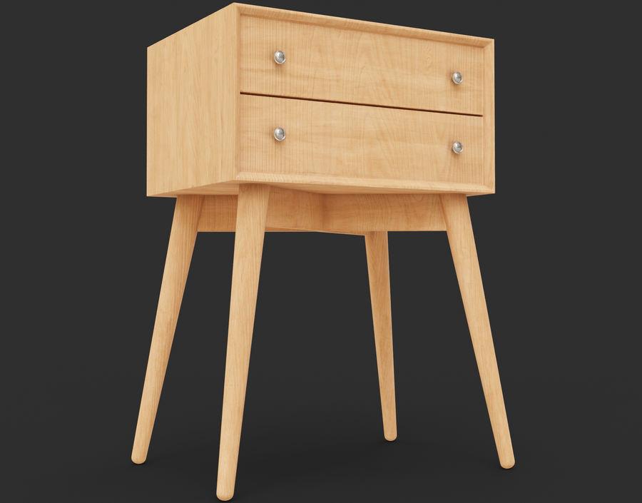 Mesita de noche de madera royalty-free modelo 3d - Preview no. 2
