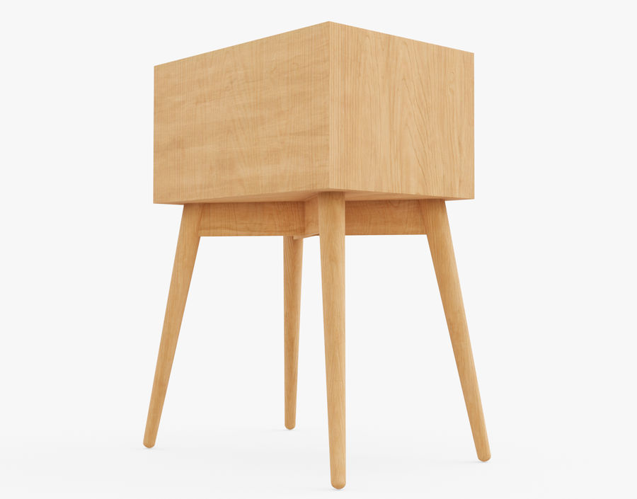 Mesita de noche de madera royalty-free modelo 3d - Preview no. 15