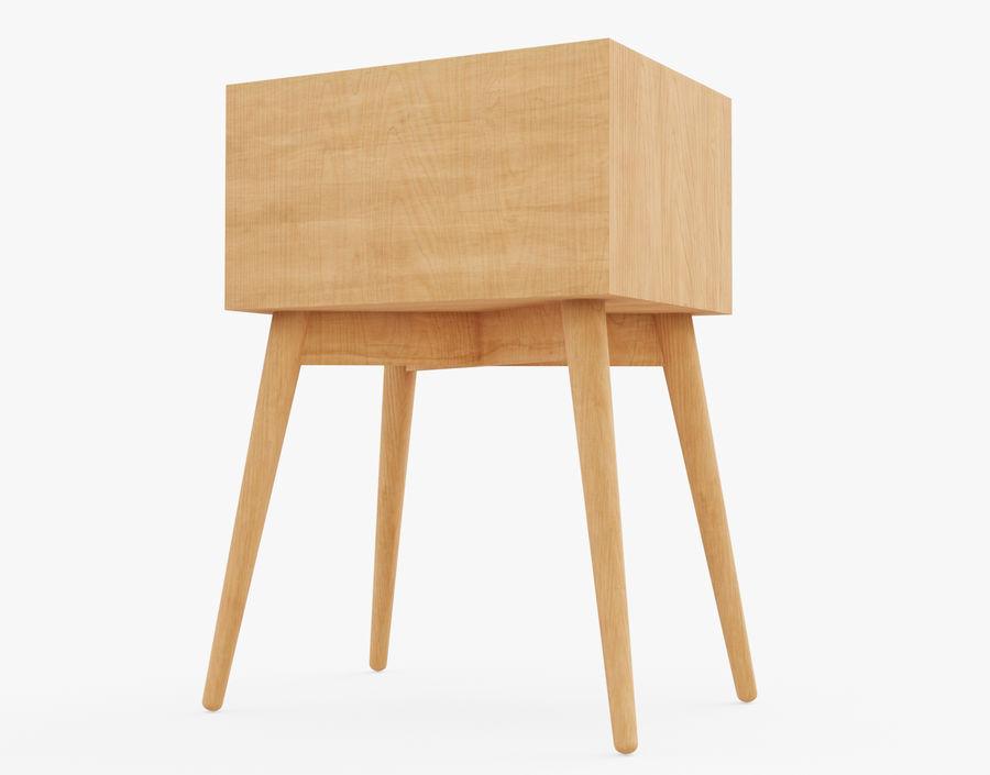 Mesita de noche de madera royalty-free modelo 3d - Preview no. 14