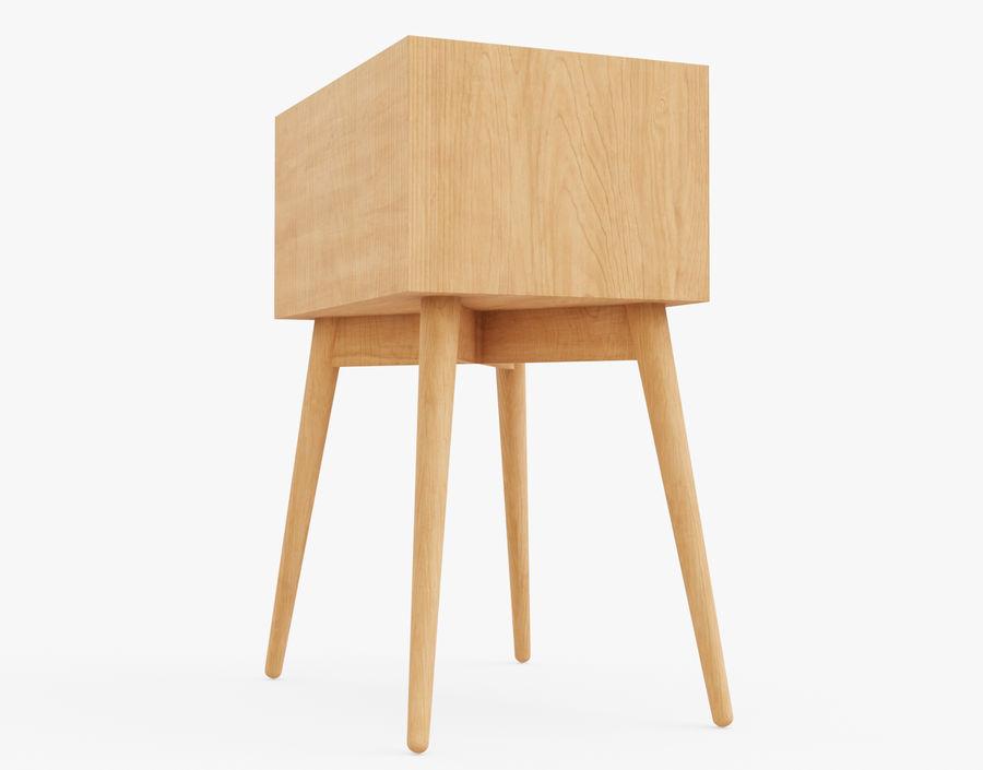 Mesita de noche de madera royalty-free modelo 3d - Preview no. 16