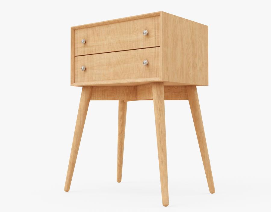 Mesita de noche de madera royalty-free modelo 3d - Preview no. 5