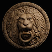 Leo gezicht 3d model