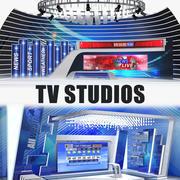 TV Studios-collectie 3d model