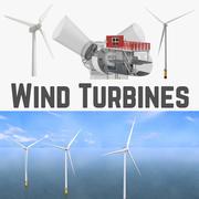 Windturbinen und Windturbinen Inside Collection 3d model