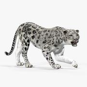 Snow Leopard Rigged 3D Model 3d model