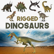 Rigged Dinosaurs 3D Models Collection 2 3d model