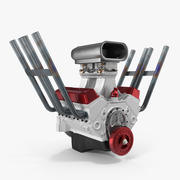 Hot Rod V8 Engine 3D Model 3d model