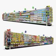 Einzelhandel Gang 12 - Büro & Baby 3d model