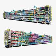 Einzelhandel Gang 13 - Toilettenpapier & Zahnhygiene 3d model