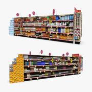 Retail Aisle 17 - Liquor & Wine 3d model